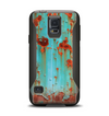 The Teal Painted Rustic Metal Samsung Galaxy S5 Otterbox Commuter Case Skin Set