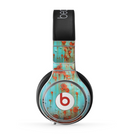 The Teal Painted Rustic Metal Skin for the Beats by Dre Pro Headphones