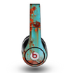 The Teal Painted Rustic Metal Skin for the Original Beats by Dre Studio Headphones