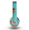 The Teal Painted Rustic Metal Skin for the Original Beats by Dre Wireless Headphones