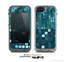The Teal Sequences Skin for the Apple iPhone 5c LifeProof Case