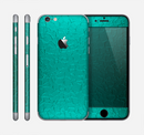 The Teal Stamped Texture Skin for the Apple iPhone 6