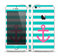 The Teal Striped Pink Anchor Skin Set for the Apple iPhone 5