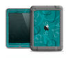 The Teal Swirly Vector Love Hearts Apple iPad Air LifeProof Fre Case Skin Set