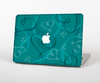 The Teal Swirly Vector Love Hearts Skin Set for the Apple MacBook Air 13""