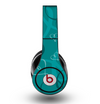 The Teal Swirly Vector Love Hearts Skin for the Original Beats by Dre Studio Headphones