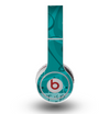 The Teal Swirly Vector Love Hearts Skin for the Original Beats by Dre Wireless Headphones