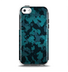 The Teal Vector Camo Apple iPhone 5c Otterbox Symmetry Case Skin Set