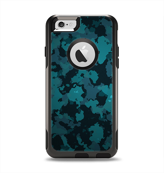 The Teal Vector Camo Apple iPhone 6 Otterbox Commuter Case Skin Set