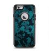 The Teal Vector Camo Apple iPhone 6 Otterbox Defender Case Skin Set
