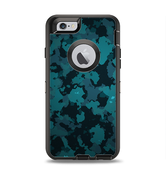 The Teal Vector Camo Apple iPhone 6 Otterbox Defender Case Skin Set -  DesignSkinz ee4c73283a50