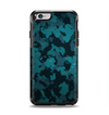 The Teal Vector Camo Apple iPhone 6 Otterbox Symmetry Case Skin Set