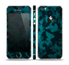 The Teal Vector Camo Skin Set for the Apple iPhone 5s