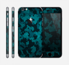 The Teal Vector Camo Skin for the Apple iPhone 6