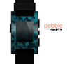 The Teal Vector Camo Skin for the Pebble SmartWatch