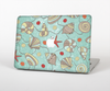 The Teal Vintage Seashell Pattern Skin Set for the Apple MacBook Air 13""