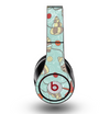 The Teal Vintage Seashell Pattern Skin for the Original Beats by Dre Studio Headphones