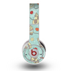 The Teal Vintage Seashell Pattern Skin for the Original Beats by Dre Wireless Headphones