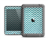 The Teal & White  Sharp Glitter Print Chevron Apple iPad Air LifeProof Nuud Case Skin Set