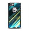 The Teal & Yellow Abstract Glowing Lines Apple iPhone 6 Otterbox Defender Case Skin Set