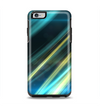 The Teal & Yellow Abstract Glowing Lines Apple iPhone 6 Plus Otterbox Symmetry Case Skin Set