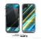 The Teal & Yellow Abstract Glowing Lines Skin for the Apple iPhone 5c LifeProof Case