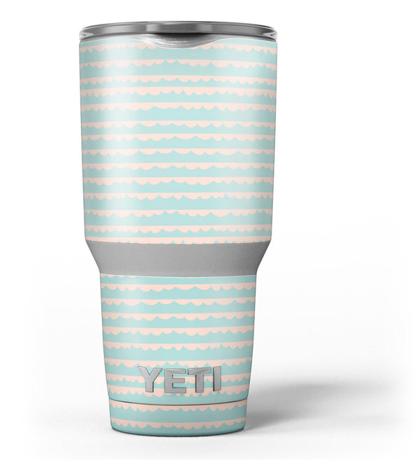 The_Teal_and_Coral_Striped_Patttern_-_Yeti_Rambler_Skin_Kit_-_30oz_-_V3.jpg