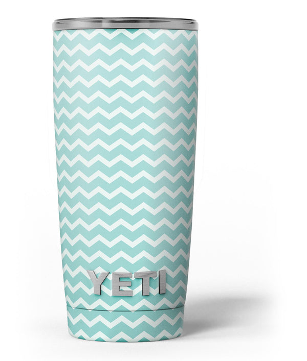 The_Teal_and_White_Chevron_Pattern_-_Yeti_Rambler_Skin_Kit_-_20oz_-_V3.jpg