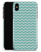 The Teal and White Chevron Pattern - iPhone X Clipit Case