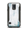 The Teal and White WaterColor Panel Samsung Galaxy S5 Otterbox Commuter Case Skin Set