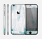 The Teal and White WaterColor Panel Skin for the Apple iPhone 6