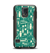 The Teal and Yellow Beauty Product Icons Samsung Galaxy S5 Otterbox Commuter Case Skin Set