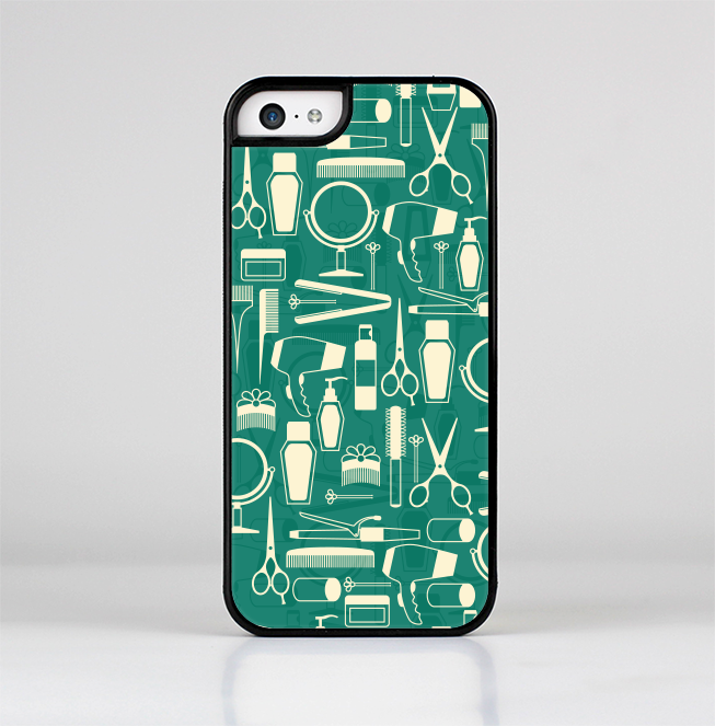 The Teal and Yellow Beauty Product Icons Skin-Sert for the Apple iPhone 5c Skin-Sert Case