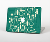 The Teal and Yellow Beauty Product Icons Skin Set for the Apple MacBook Air 13""