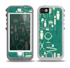 The Teal and Yellow Beauty Product Icons Skin for the iPhone 5-5s OtterBox Preserver WaterProof Case