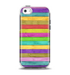 The Thin Neon Colored Wood Planks Apple iPhone 5c Otterbox Symmetry Case Skin Set
