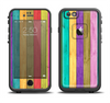 The Thin Neon Colored Wood Planks Apple iPhone 6 LifeProof Fre Case Skin Set