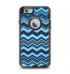 The Thin Striped Blue Layered Chevron Pattern Apple iPhone 6 Otterbox Defender Case Skin Set