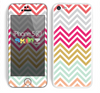 The Three-Bar Color Chevron Pattern Skin for the Apple iPhone 5c