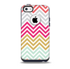 The Three-Bar Color Chevron Pattern Skin for the iPhone 5c OtterBox Commuter Case