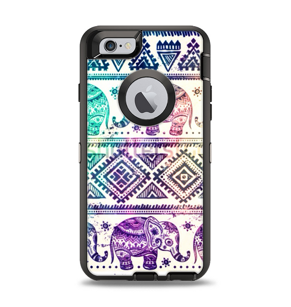 size 40 13a0a 0e9e9 The Tie-Dyed Aztec Elephant Pattern Apple iPhone 6 Otterbox Defender Case  Skin Set