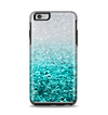 The Aqua Blue & Silver Glimmer Fade Apple iPhone 6 Plus Otterbox Symmetry Case Skin Set