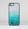The Aqua Blue & Silver Glimmer Fade Skin-Sert for the Apple iPhone 5c Skin-Sert Case