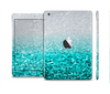 The Tiffany Blue & Silver Glimmer Fade Skin Set for the Apple iPad Mini 4