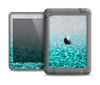 The Aqua Blue & Silver Glimmer Fade Apple iPad Air LifeProof Nuud Case Skin Set