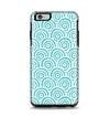 The Aqua Blue & White Swirls Apple iPhone 6 Plus Otterbox Symmetry Case Skin Set