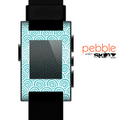 The Aqua Blue & White Swirls Skin for the Pebble SmartWatch