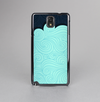 The Aqua Green Abstract Swirls with Dark Skin-Sert Case for the Samsung Galaxy Note 3