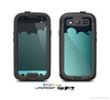 The Aqua Green Abstract Swirls with Dark Skin For The Samsung Galaxy S3 LifeProof Case