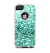 The Aqua Green Glimmer Apple iPhone 5-5s Otterbox Commuter Case Skin Set